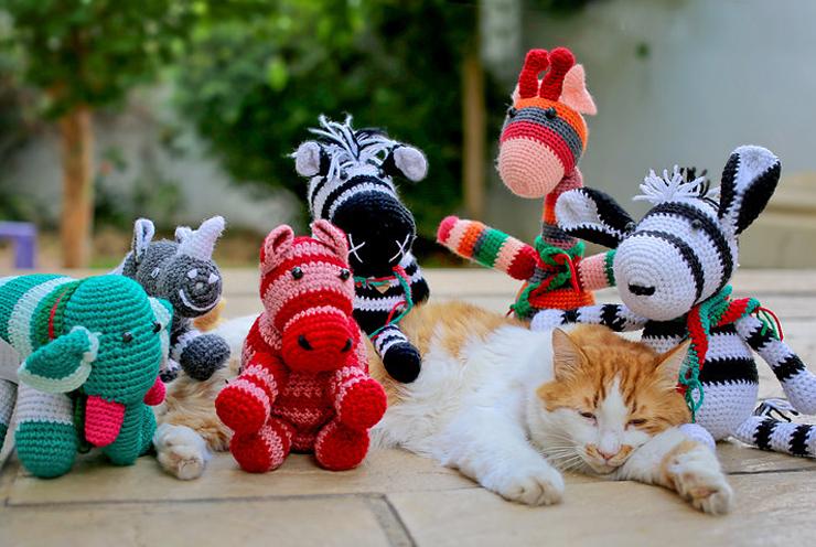 Crochet Christmas animals